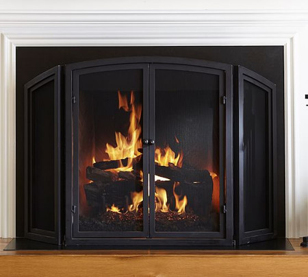 PB Classic Fireplace Triple Screen Fireplace Collection