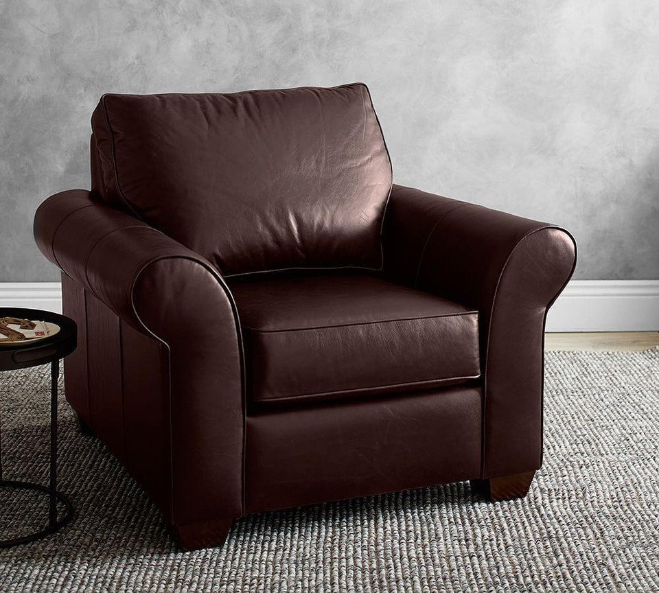 PB Comfort Roll Arm Leather Armchair
