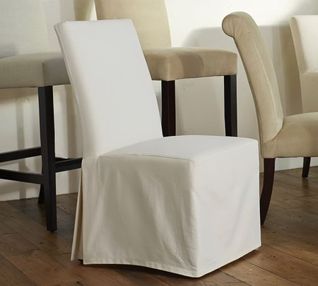 PB Comfort Square Slipcovered Dining & Armchairs
