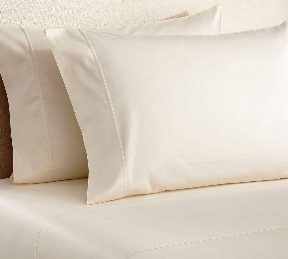 Pb Essential 300 Thread Count Fitted Cotton Sheet Ivory