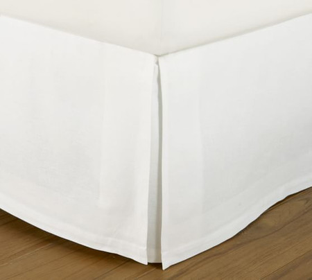 PB Essential Cotton Linen Blend Bed Skirt
