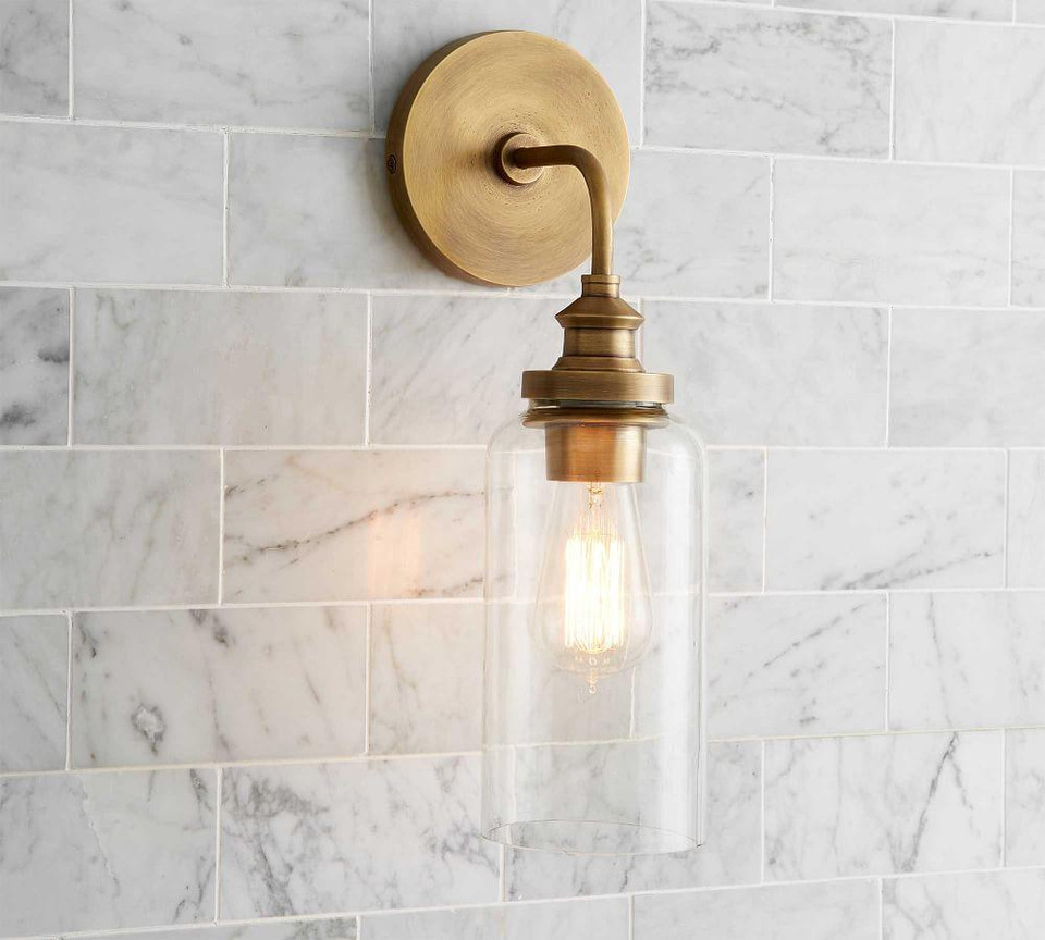 Pb Essential Tube Sconce Pottery Barn Canada