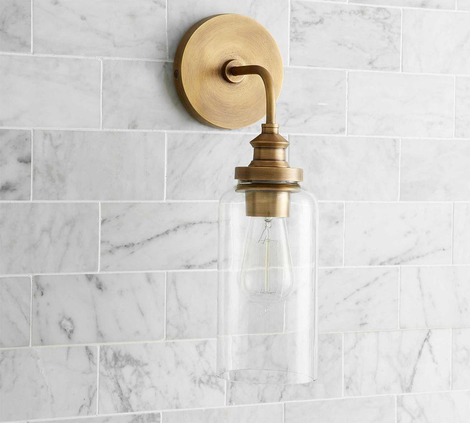 PB Essential Tube Sconce