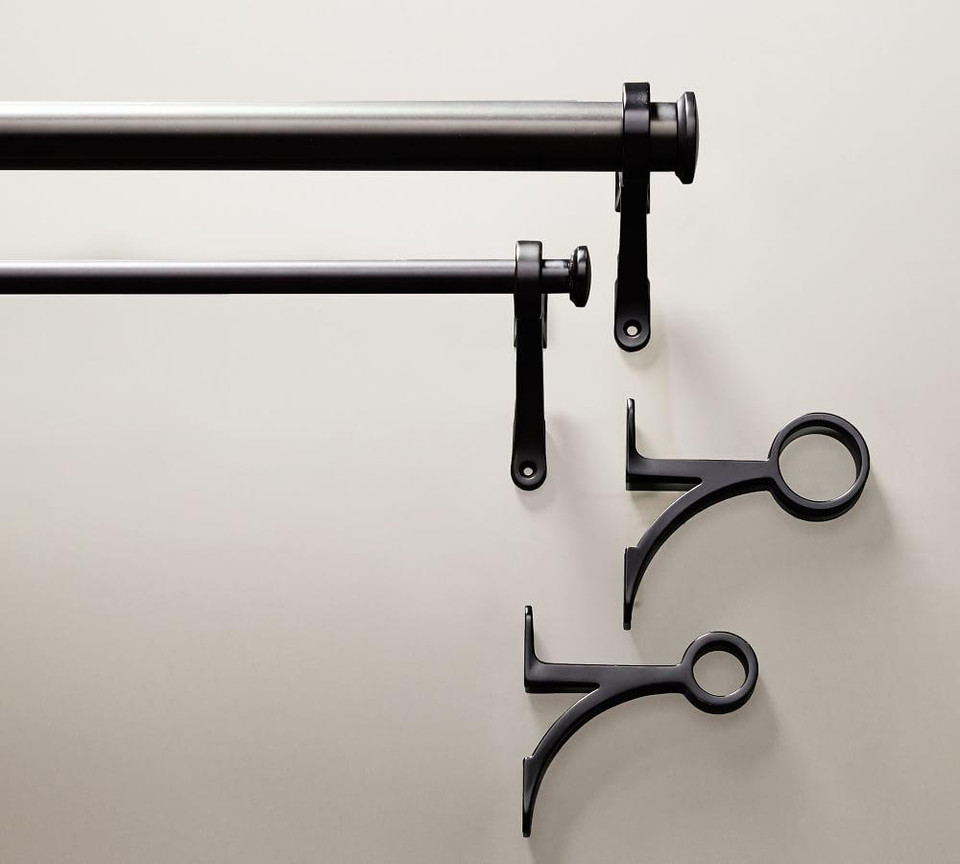 PB Standard Curtain Rod & Wall Bracket - Antique Bronze Finish