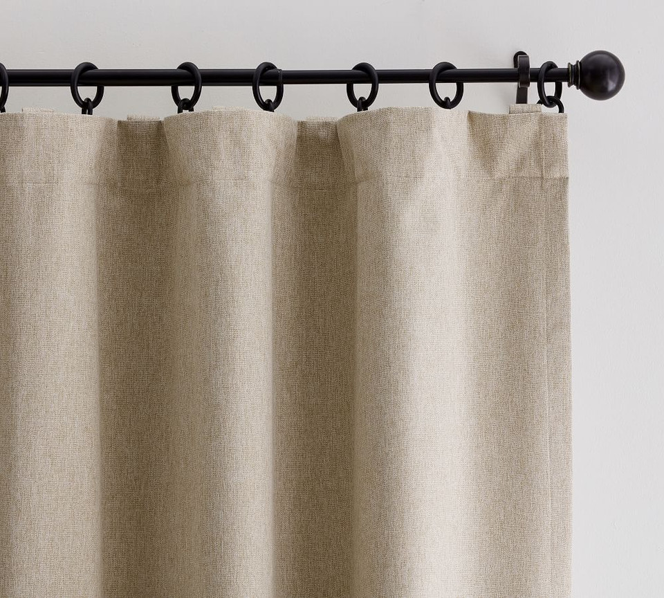 Peace & Quiet Noise-Reducing Blackout Curtain - Dark Flax