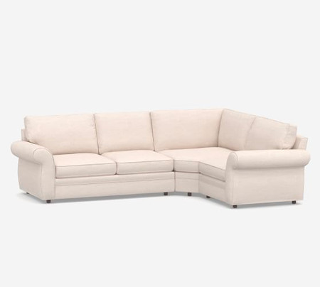 Pearce Roll Arm Upholstered 3-Piece Sectional with Wedge