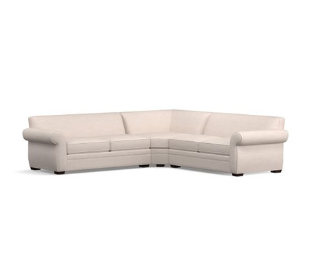 Pearce Roll Arm Upholstered 3-Piece L-Shaped Wedge Sleeper Sectional