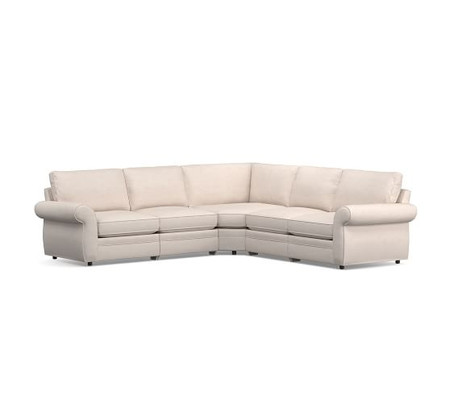 Pearce Roll Arm Upholstered 5-Piece Reclining Sectional with Wedge