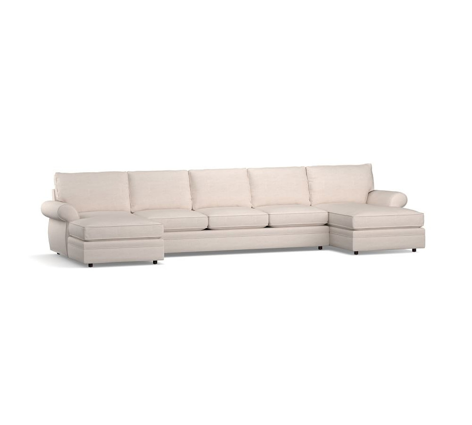 Pearce Roll Arm Upholstered U-Chaise Sectional