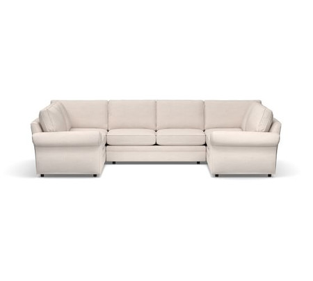 Pearce Roll Arm Upholstered U-Shaped Sectional