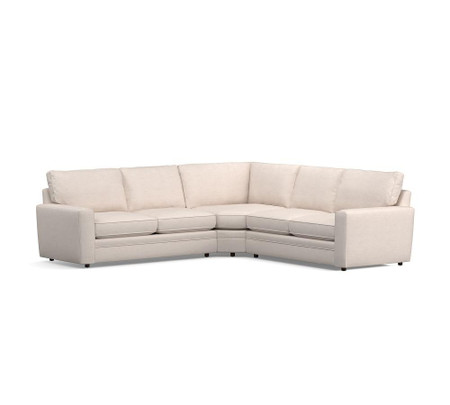 Pearce Square Arm Upholstered 3-Piece L-Shaped Wedge Sectional
