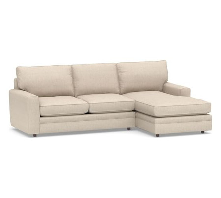 Pearce Square Arm Upholstered Sofa with Chaise Sectional