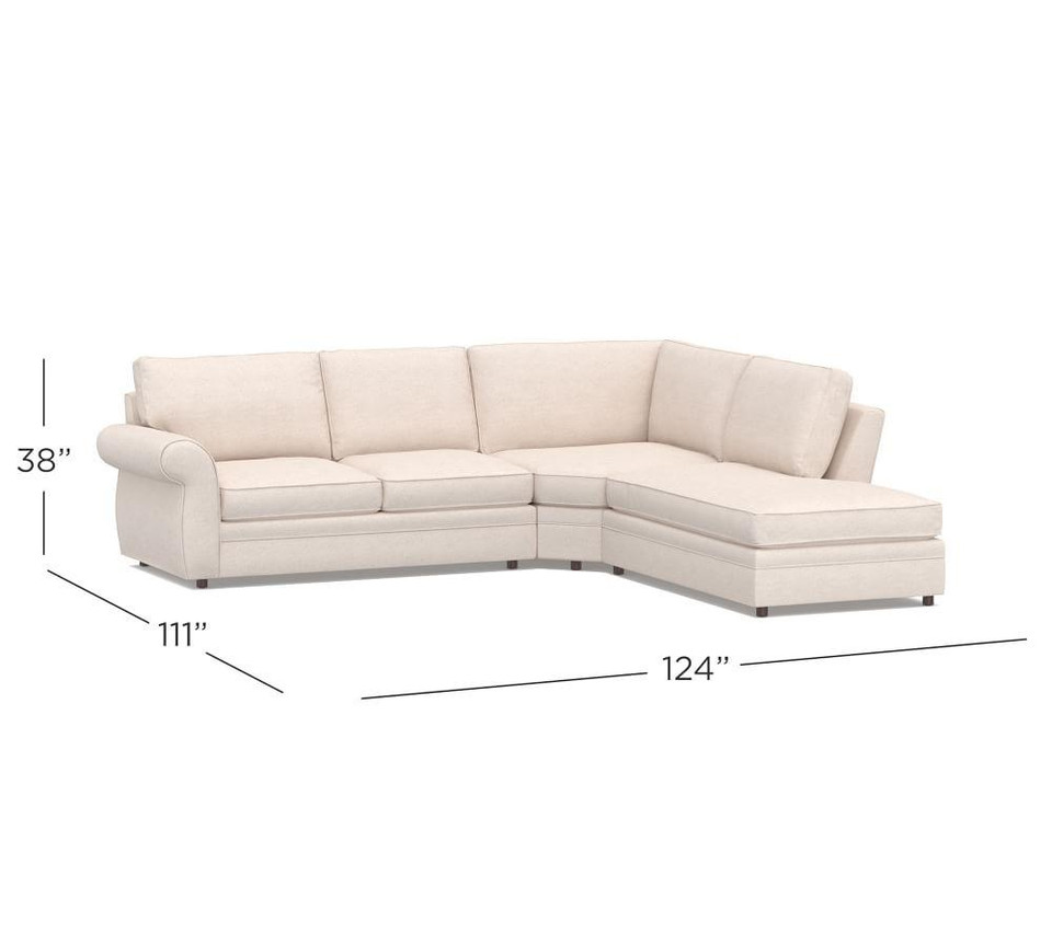 Pearce Roll Arm Upholstered 3 Piece Bumper Sectional