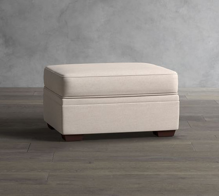 Pearce Roll Arm Upholstered Storage Ottoman