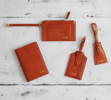 Peyton Leather Travel Accessories - Cognac