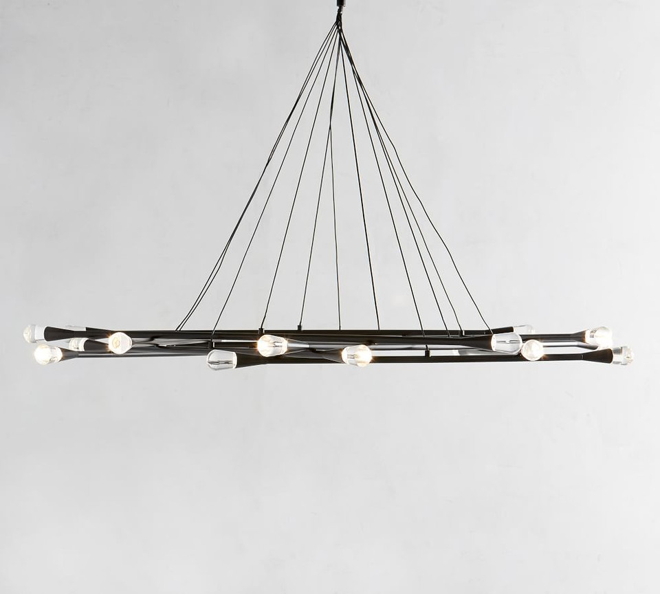Pike Round Led Chandelier Pottery Barn Ca