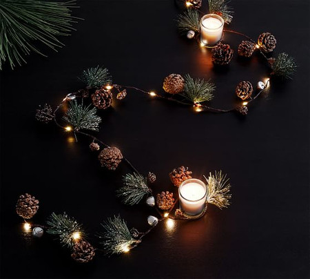 Pine and Bell String Lights