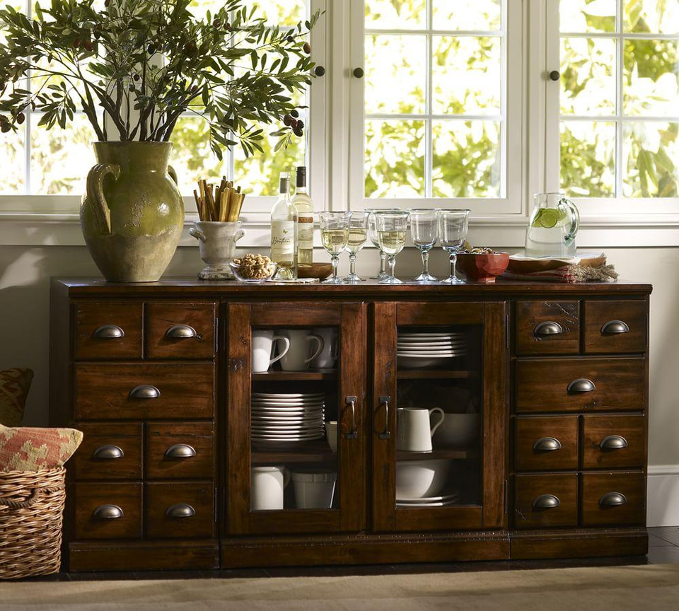 Printer's Large Buffet, Tuscan Chestnut