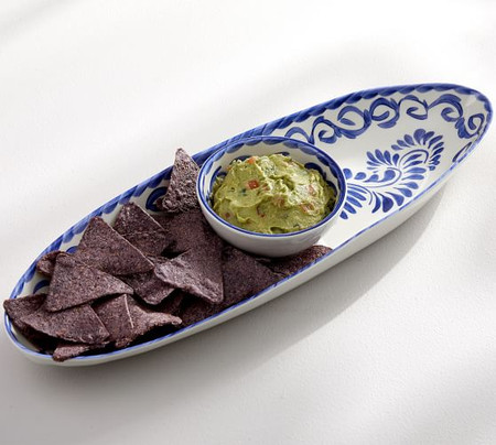 Puebla Melamine Chip & Dip Server