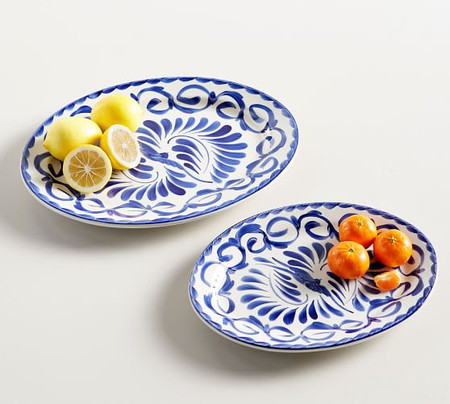 Puebla Oval Serving Platters