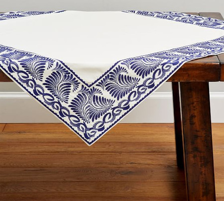 Puebla Embroidered Table Throw