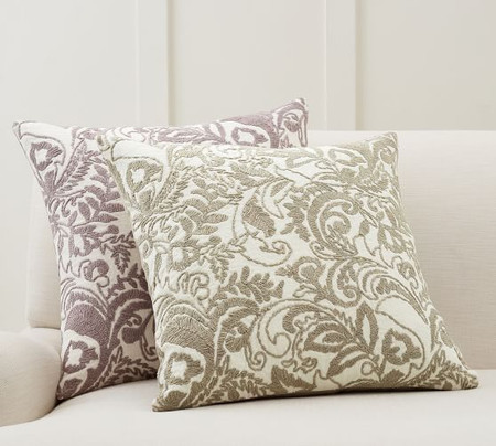 Quinn Paisley Embroidered Pillow Covers