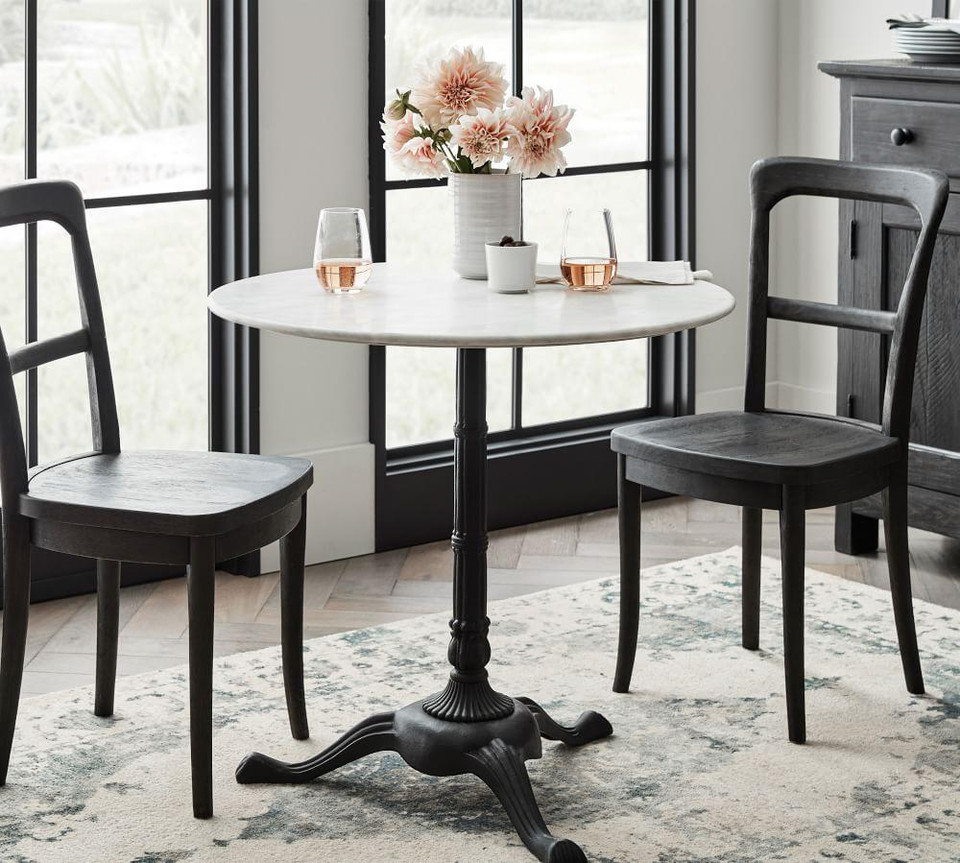 Rae Round Marble Bistro Table Pottery Barn Canada