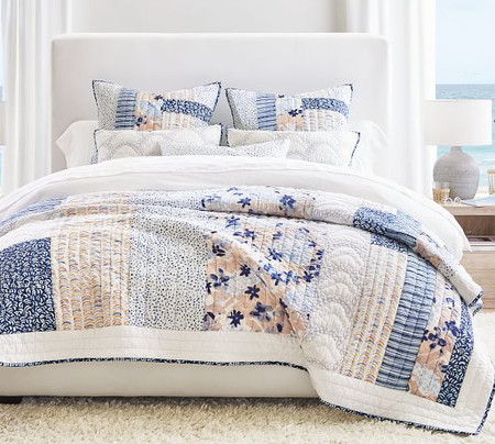 Rebecca Atwood Blossom Patchwork Organic Cotton Quilt & Shams