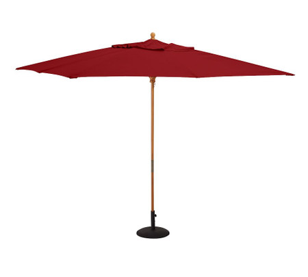 10' Rectangular Umbrella – Teak Frame