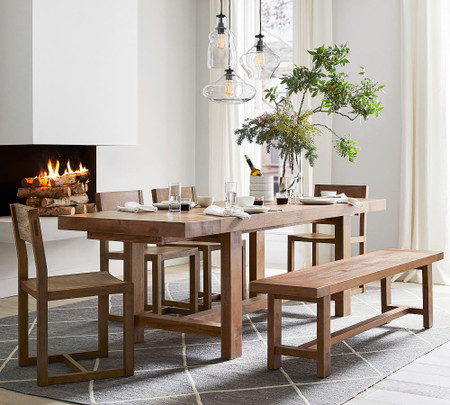 Reed Extending Dining Table Pottery Barn Canada