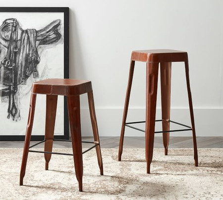Rhodes Leather Bar & Counter Stools
