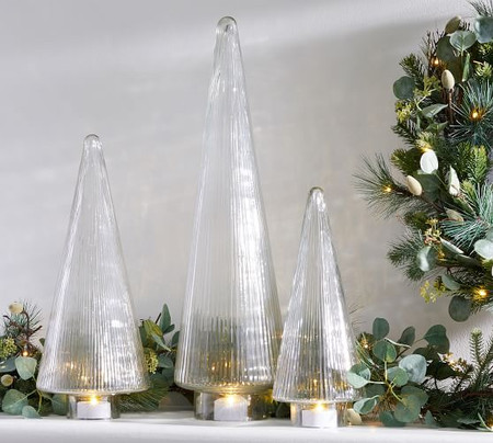 Ribbed Glass Tree Cloches