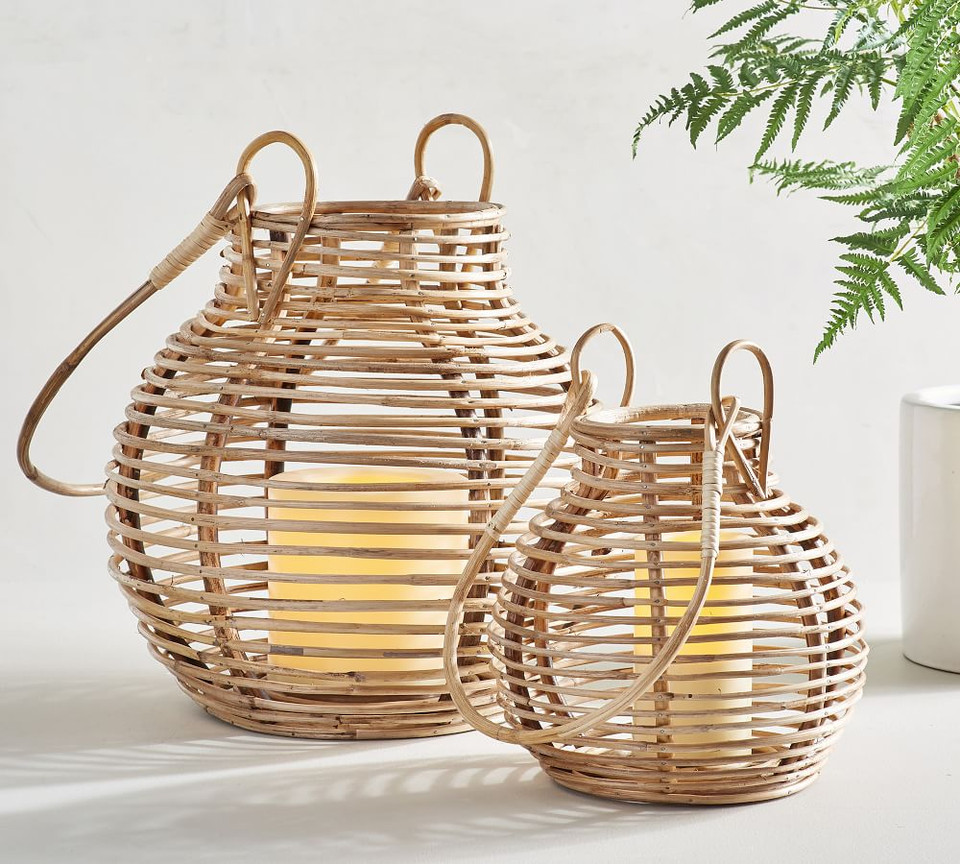 Riley Handcrafted Rattan Lanterns