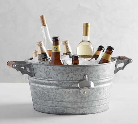 Rivet Galvanized Party Bucket