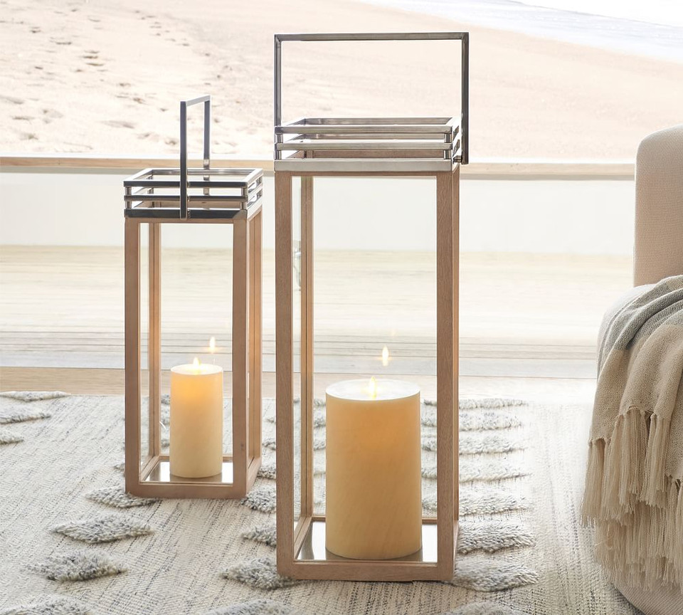 Rivington Mango Wood Lanterns
