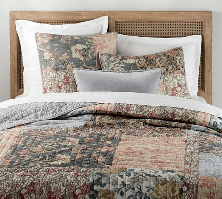 Rosalyn Patchwork Cotton Quilt & Shams