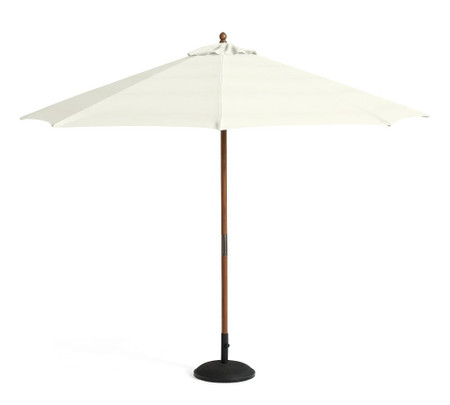 11' Round Umbrella – Teak Frame
