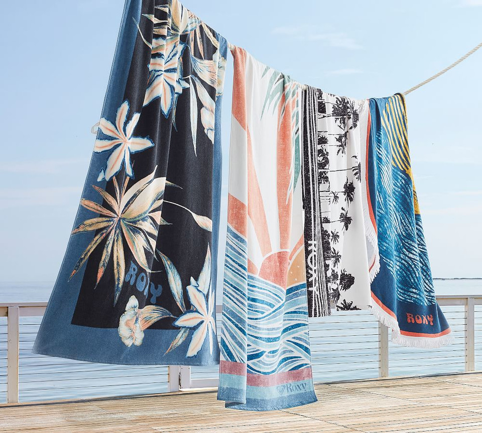 Roxy Island Life Printed Pool Towel Pottery Barn Ca