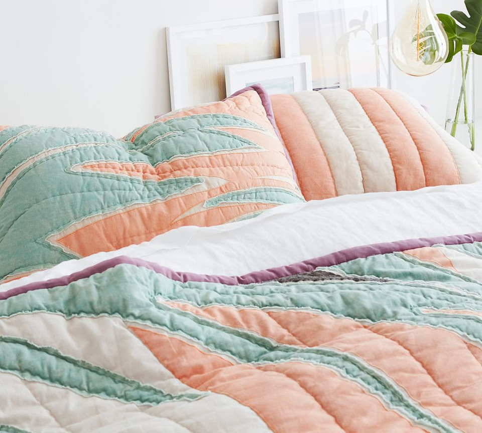Roxy Vintage Sun Patchwork Quilted Shams Pottery Barn Ca