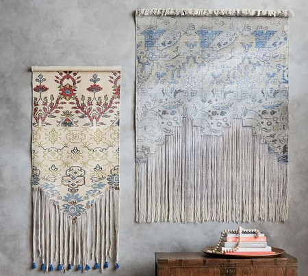 Cotton Fringed Rug Tapestry