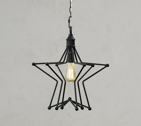 Rustic Star Indoor/Outdoor Pendant