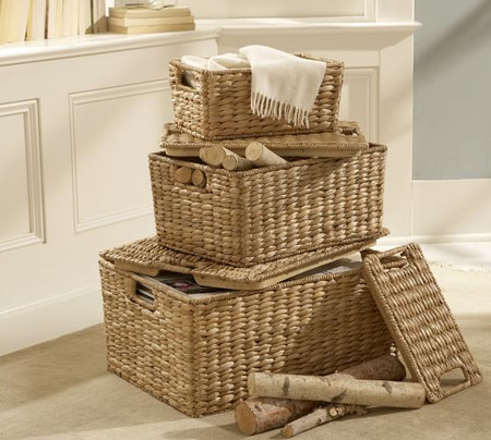 Seagrass Lidded Baskets - Savannah