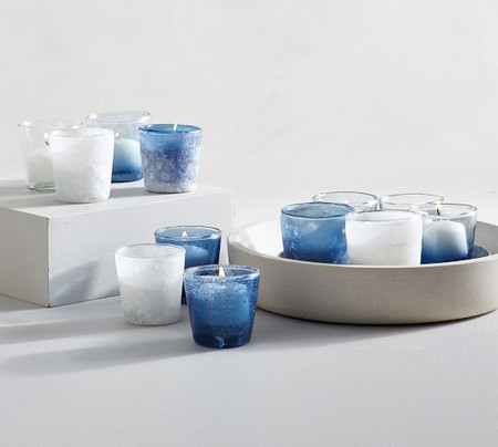 Sea Glass Tealight Holders - Set of 12