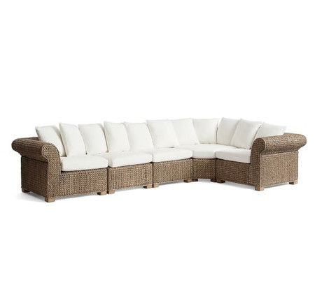 Seagrass 5-Piece Sectional with Wedge