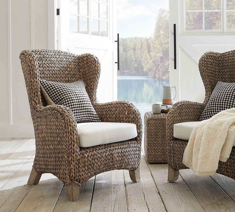 Seagrass Wingback Chair Pottery Barn Canada