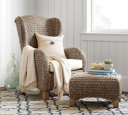 Seagrass Wingback Chair