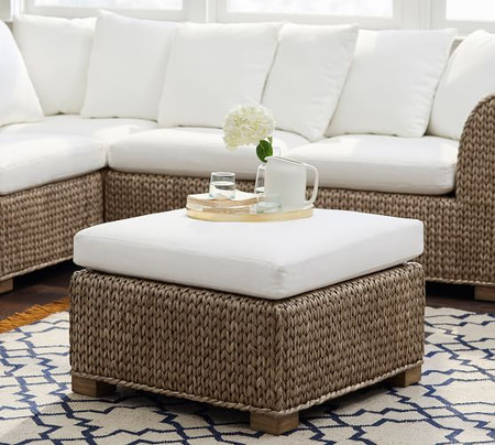 Seagrass Sectional Ottoman