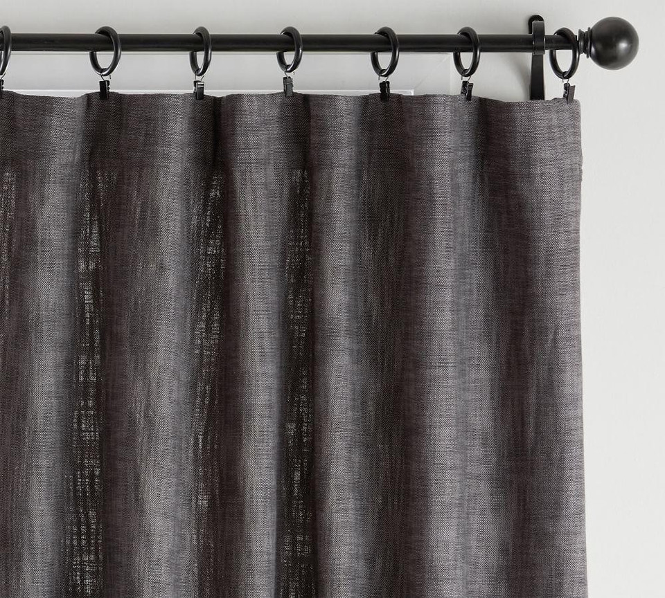 Seaton Textured Curtain - Charcoal