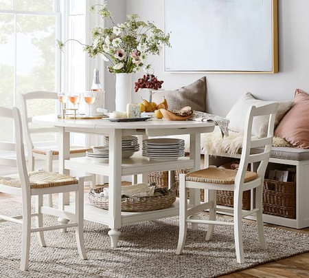 Shayne Drop-Leaf Kitchen Table, White