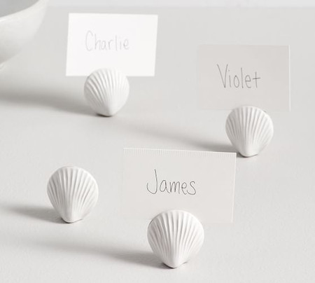 Shell Place Card Holders, Set of 4